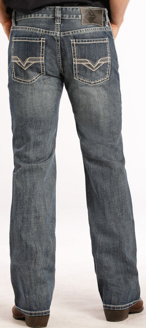 Rock and Roll Cowboy Pistol Fit Double V Jeans - Straight Leg , Denim, hi-res