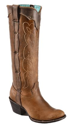 Corral Kats Natural Westport Cowgirl Boots - Round Toe, , hi-res