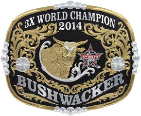 Montana Silversmiths Collector's Edition Bushwacker 3X Champion Belt Buckle, Multi, hi-res