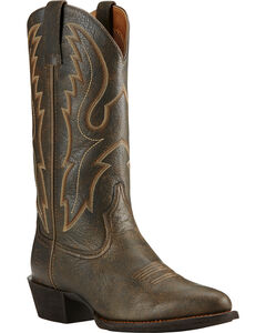 Ariat Sport Brooklyn Brown Cowboy Boots - Round Toe, , hi-res