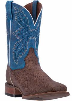 Dan Post Men's Chocolate Clark Cowboy Boots - Broad Square Toe, , hi-res