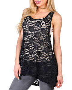 Shyanne® Women's Allover Lace Layering Tank, , hi-res