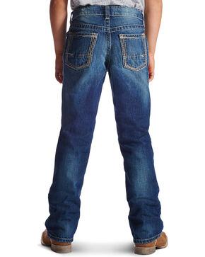 Ariat Boys' B5 Boundary Slim Fit Straight Leg Jeans, Med Blue, hi-res