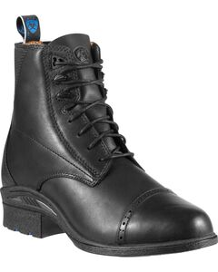 Ariat Performance Pro Lace-Up Black Boots, , hi-res