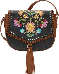 American West Charcoal Grey Women's Maya Flap Crossbody Bag , , hi-res
