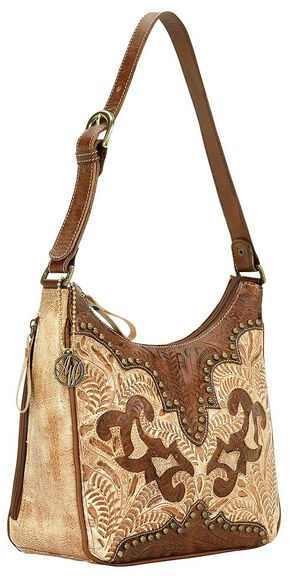 American West Annie's Secret Collection Concealed Carry Shoulder Bag, Tan, hi-res