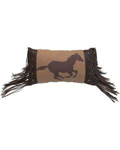 HiEnd Accents Running Horse Fleece Pillow, , hi-res