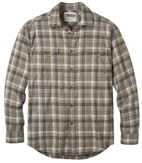 Mountain Khakis Men's Firma Brown Peaks Flannel Shirt , Brown, hi-res