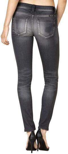 Miss Me Women's Grey Mid Skinny Jeans, Grey, hi-res