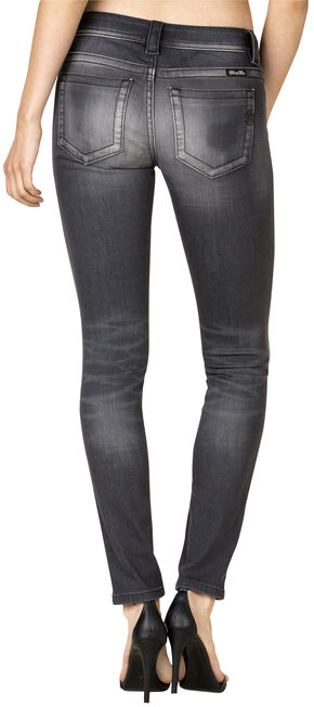 Miss Me Women's Grey Mid Skinny Jeans, Grey, hi-res