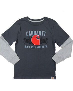 Carhartt Boya' Grey Built With Strength Layered T-Shirt , Grey, hi-res