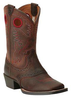 Ariat Boys' Rough Stock Cowboy Boots - Square Toe, , hi-res