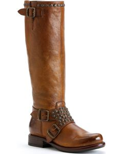 Frye Women's Jenna Studded Riding Boots - Round Toe, , hi-res