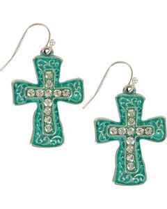 Shyanne Women's Filigree Cross Earrings, , hi-res