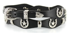 Cody James® Silver Horseshoe Concho Hat Band, , hi-res