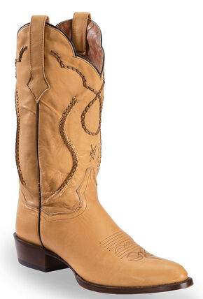 Dan Post Saddle Brand Leather Corded Western Boots, , hi-res