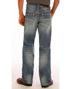 "Rock & Roll Cowboy Boys' Blue ""A"" Embroidery Jeans - Boot Cut, , hi-res"