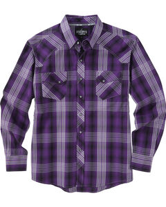 Garth Brooks Sevens by Cinch Purple Plaid Western Shirt , , hi-res