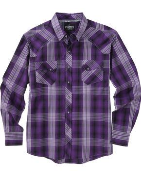 Garth Brooks Sevens by Cinch Purple Plaid Western Shirt , Purple, hi-res