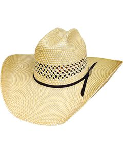 Bullhide Justin Moore Lettin' The Night Roll 100X Shantung Straw Cowgirl Hat, , hi-res