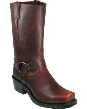 Boulet Motorcycle Boots - Square Toe, Brown, hi-res