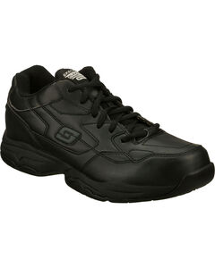 Skechers Men's Black Felton Albie Slip Resistant Work Shoes , , hi-res