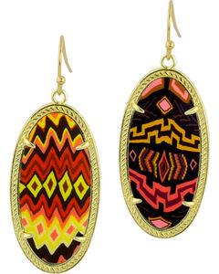 Jilzarah Sunset Gold Frame Earrings, , hi-res