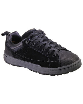 Caterpillar Women's Brode Work Shoes - Steel Toe, Black, hi-res