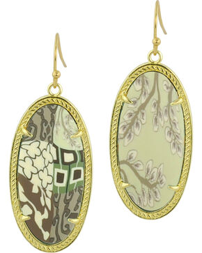 Jilzarah Latte Gold Frame Earrings, Latte, hi-res