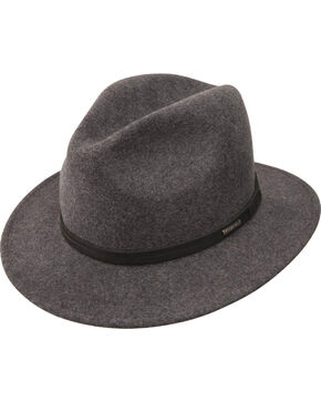 Stetson Men's Explorer Wool Felt Fedora, Grey, hi-res