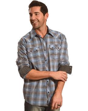 Moonshine Spirit Men's Ombre Bootlegger Long Sleeve Western Shirt, Grey, hi-res
