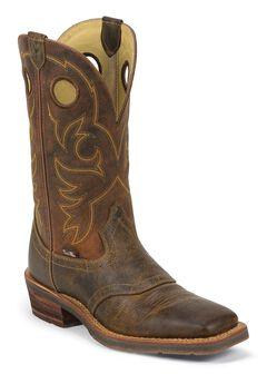 Justin 1879 Saddle Vamp Cowboy Boots - Square Toe, , hi-res