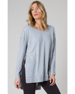 Z Supply Women's Grey Weekend Shirt, , hi-res