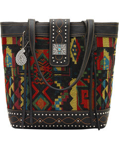 Bandana by American West Black Canyon Zip Top Tote, , hi-res