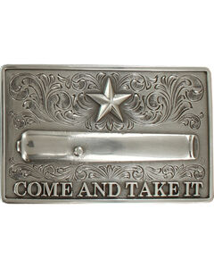 Nocona Men's Silver Come And Take It Belt Buckle , , hi-res