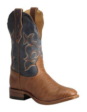 Boulet Super Roper Cowboy Boots - Round Toe, Walnut, hi-res