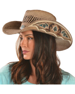 Bullhide From the Heart Straw Cowgirl Hat, , hi-res