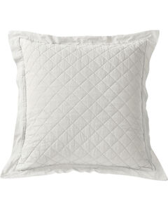 HiEnd Accents Diamond Pattern Quilted White Euro Sham, White, hi-res
