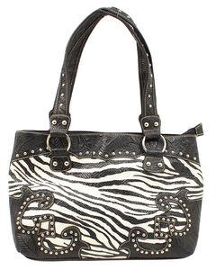 Blazin Roxx Zebra Print Shoulder Bag, , hi-res