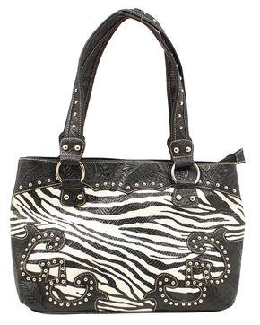 Blazin Roxx Zebra Print Shoulder Bag, Zebra, hi-res