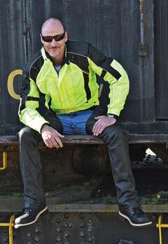 Interstate Leather Men's Cordura Rocket Jacket - 2XL and 4XL, , hi-res