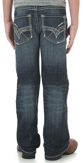 Wrangler Rock 47® Boys' Indigo Bluegrass Jeans - Boot Cut, Indigo, hi-res