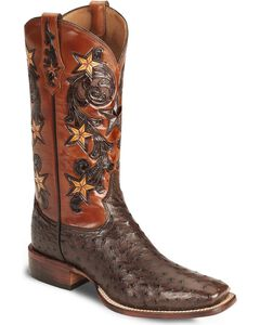 Tony Lama Signature Series Full Quill Ostrich Western Boots - Square Toe, , hi-res
