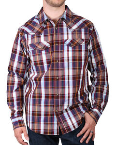 Cody James Men's Saddle Long Sleeve Plaid Western Shirt, , hi-res