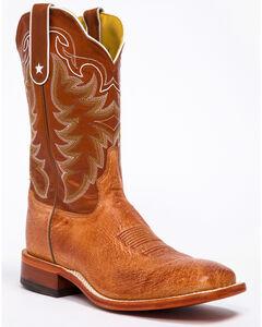 Tony Lama San Saba Vintage Smooth Quill Ostrich Cowboy Boots - Square Toe, , hi-res