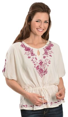 Ariat Floral Embroidered Tunic, , hi-res