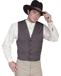 WahMaker Old West by Scully Four Pocket Striped Vest, , hi-res