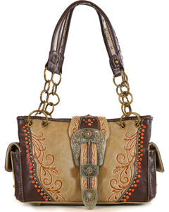 Montana West Women's Jeweled Buckle Concealed Carry Handbag, , hi-res