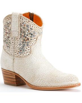 Frye Women's Deborah Studded Boots - Round Toe, White, hi-res