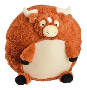 Squishable Longhorn Steer Stuffed Animal, Brown, hi-res